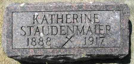 STAUDENMAIER, KATHERINE - Kingsbury County, South Dakota | KATHERINE STAUDENMAIER - South Dakota Gravestone Photos