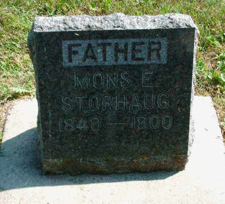 STORHAUG, MONS ELIAS - Kingsbury County, South Dakota   MONS ELIAS STORHAUG - South Dakota Gravestone Photos
