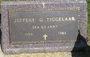 TIGGELAAR, JEFFREY G. - Kingsbury County, South Dakota | JEFFREY G. TIGGELAAR - South Dakota Gravestone Photos