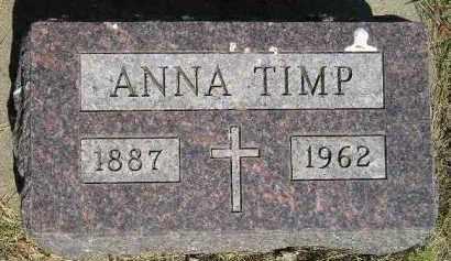TIMP, ANNA - Kingsbury County, South Dakota | ANNA TIMP - South Dakota Gravestone Photos