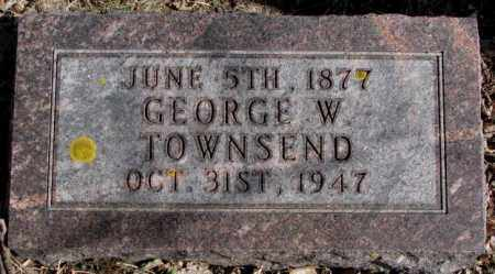 TOWNSEND, GEORGE W. - Kingsbury County, South Dakota   GEORGE W. TOWNSEND - South Dakota Gravestone Photos