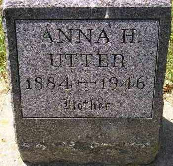 UTTER, ANNA H. - Kingsbury County, South Dakota | ANNA H. UTTER - South Dakota Gravestone Photos
