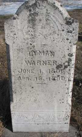 WARNER, LYMAN - Kingsbury County, South Dakota   LYMAN WARNER - South Dakota Gravestone Photos