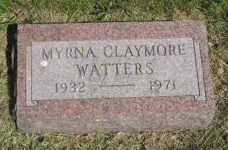 CLAYMORE WATTERS, MYRNA - Kingsbury County, South Dakota | MYRNA CLAYMORE WATTERS - South Dakota Gravestone Photos