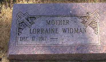 WIDMAN, LORRAINE - Kingsbury County, South Dakota   LORRAINE WIDMAN - South Dakota Gravestone Photos