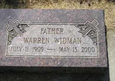 WIDMAN, WARREN - Kingsbury County, South Dakota   WARREN WIDMAN - South Dakota Gravestone Photos