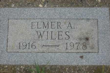WILES, ELMER A. - Kingsbury County, South Dakota | ELMER A. WILES - South Dakota Gravestone Photos
