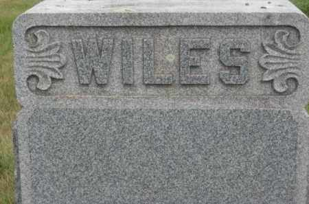 WILES, FAMILY STONE - Kingsbury County, South Dakota | FAMILY STONE WILES - South Dakota Gravestone Photos