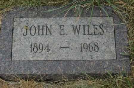 WILES, JOHN E. - Kingsbury County, South Dakota | JOHN E. WILES - South Dakota Gravestone Photos