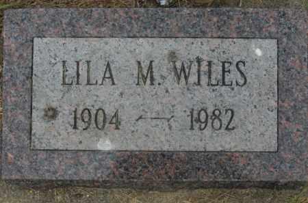 WILES, LILA M. - Kingsbury County, South Dakota | LILA M. WILES - South Dakota Gravestone Photos