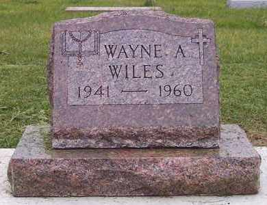 WILES, WAYNE A - Kingsbury County, South Dakota | WAYNE A WILES - South Dakota Gravestone Photos