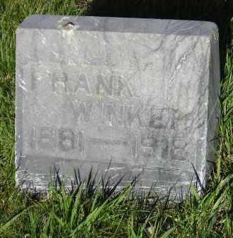 "WINKER, GEORGE ""FRANK"" - Kingsbury County, South Dakota   GEORGE ""FRANK"" WINKER - South Dakota Gravestone Photos"