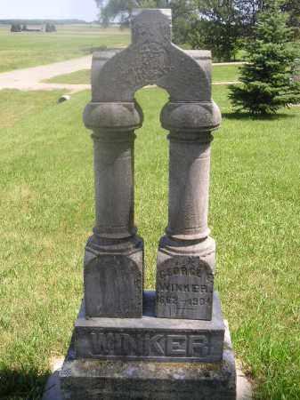 WINKER, GEORGE FRANCIS - Kingsbury County, South Dakota   GEORGE FRANCIS WINKER - South Dakota Gravestone Photos
