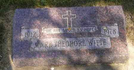 WITTE, MARK THEODORE - Kingsbury County, South Dakota   MARK THEODORE WITTE - South Dakota Gravestone Photos