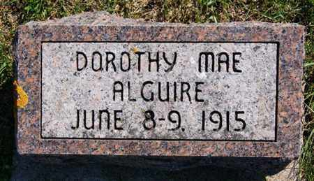 ALGUIRE, DOROTHY MAE - Lake County, South Dakota | DOROTHY MAE ALGUIRE - South Dakota Gravestone Photos