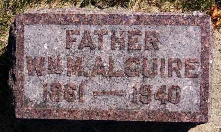 ALGUIRE, WILLIAM M - Lake County, South Dakota | WILLIAM M ALGUIRE - South Dakota Gravestone Photos
