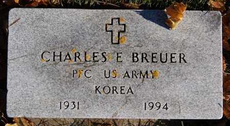 BREUER, CHARLES E (KOREA) - Lake County, South Dakota   CHARLES E (KOREA) BREUER - South Dakota Gravestone Photos