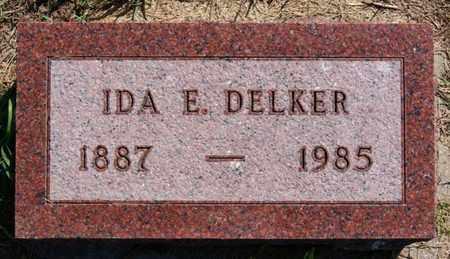 DELKER, IDA E - Lake County, South Dakota | IDA E DELKER - South Dakota Gravestone Photos