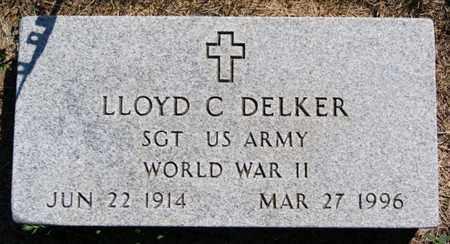 DELKER, LLOYD C (WWII) - Lake County, South Dakota | LLOYD C (WWII) DELKER - South Dakota Gravestone Photos