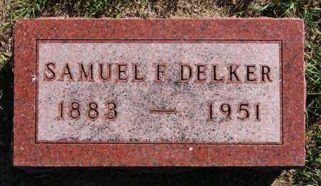 DELKER, SAMUEL F - Lake County, South Dakota | SAMUEL F DELKER - South Dakota Gravestone Photos