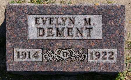 DEMENT, EVELYN M - Lake County, South Dakota | EVELYN M DEMENT - South Dakota Gravestone Photos