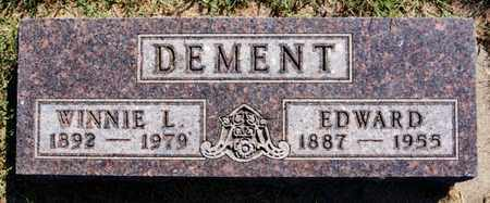 DEMENT, WINNIE L - Lake County, South Dakota | WINNIE L DEMENT - South Dakota Gravestone Photos