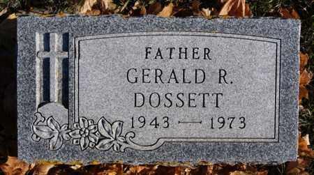 DOSSETT, GERALD R - Lake County, South Dakota   GERALD R DOSSETT - South Dakota Gravestone Photos