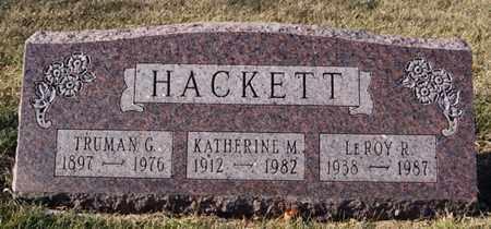 HACKETT, TRUMAN G - Lake County, South Dakota | TRUMAN G HACKETT - South Dakota Gravestone Photos
