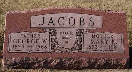JACOBS, GEORGE W - Lake County, South Dakota | GEORGE W JACOBS - South Dakota Gravestone Photos