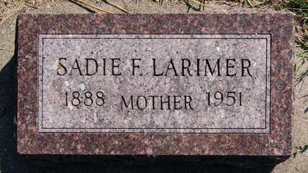 LARIMER, SADIE F - Lake County, South Dakota | SADIE F LARIMER - South Dakota Gravestone Photos