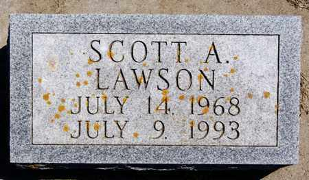 LAWSON, SCOTT A - Lake County, South Dakota | SCOTT A LAWSON - South Dakota Gravestone Photos