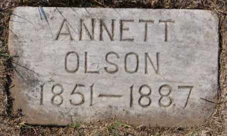 OLSON, ANNETT - Lake County, South Dakota | ANNETT OLSON - South Dakota Gravestone Photos