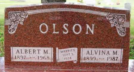 OLSON, ALVINA M - Lake County, South Dakota | ALVINA M OLSON - South Dakota Gravestone Photos