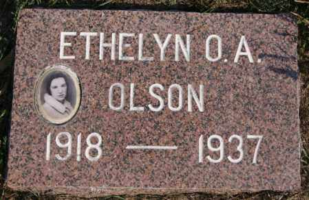 OLSON, ETHELYN O A - Lake County, South Dakota | ETHELYN O A OLSON - South Dakota Gravestone Photos