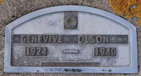 OLSON, GENEVIVE - Lake County, South Dakota | GENEVIVE OLSON - South Dakota Gravestone Photos