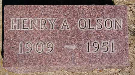 OLSON, HENRY A - Lake County, South Dakota   HENRY A OLSON - South Dakota Gravestone Photos