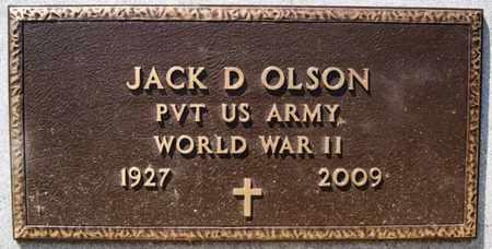 OLSON, JACK D (WWII) - Lake County, South Dakota   JACK D (WWII) OLSON - South Dakota Gravestone Photos