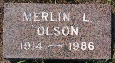 OLSON, MERLIN L - Lake County, South Dakota   MERLIN L OLSON - South Dakota Gravestone Photos