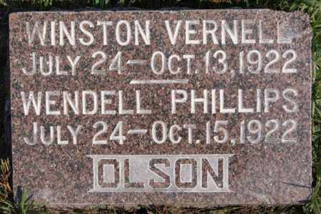 OLSON, WENDELL PHILLIPS - Lake County, South Dakota | WENDELL PHILLIPS OLSON - South Dakota Gravestone Photos