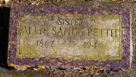 SANDS PETTIT, ALLIE - Lake County, South Dakota | ALLIE SANDS PETTIT - South Dakota Gravestone Photos