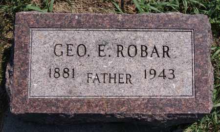 ROBAR, GEORGE E - Lake County, South Dakota   GEORGE E ROBAR - South Dakota Gravestone Photos