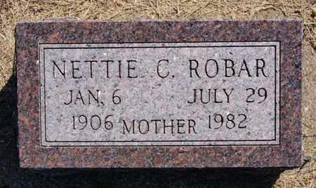 ROBAR, NETTIE C - Lake County, South Dakota   NETTIE C ROBAR - South Dakota Gravestone Photos