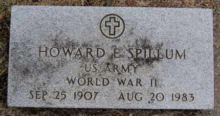 SPILLUM, HOWARD E (WWII) - Lake County, South Dakota | HOWARD E (WWII) SPILLUM - South Dakota Gravestone Photos