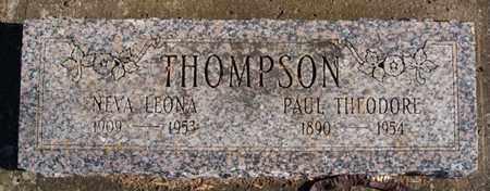 THOMPSON, PAUL THEODORE - Lake County, South Dakota   PAUL THEODORE THOMPSON - South Dakota Gravestone Photos
