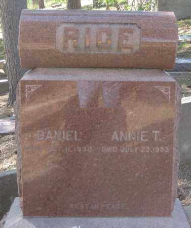 RICE, ANNIE  T. - Lawrence County, South Dakota | ANNIE  T. RICE - South Dakota Gravestone Photos