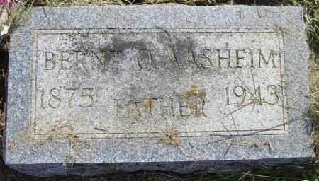 AASHEIM, BERNT O. - Lincoln County, South Dakota | BERNT O. AASHEIM - South Dakota Gravestone Photos