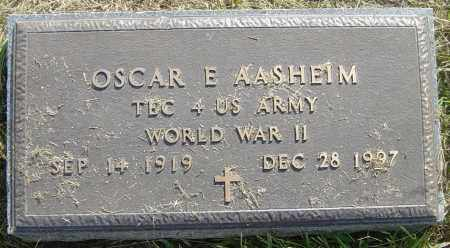 AASHEIM, OSCAR E - Lincoln County, South Dakota | OSCAR E AASHEIM - South Dakota Gravestone Photos