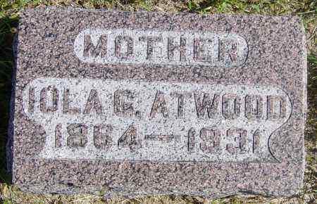 ATWOOD, IOLA G - Lincoln County, South Dakota   IOLA G ATWOOD - South Dakota Gravestone Photos