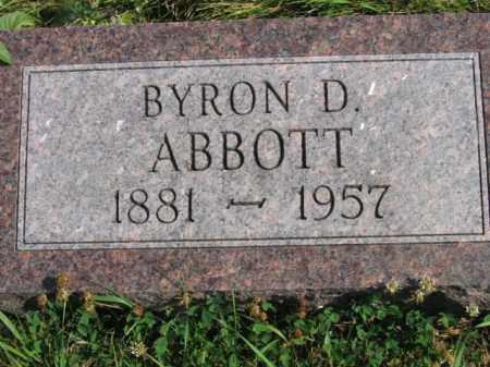 ABBOTT, BYRON D - Lincoln County, South Dakota   BYRON D ABBOTT - South Dakota Gravestone Photos