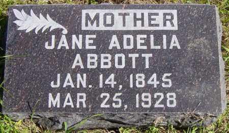 ABBOTT, JANE ADELIA - Lincoln County, South Dakota | JANE ADELIA ABBOTT - South Dakota Gravestone Photos